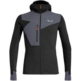 SALEWA Puez 2 Dry Hood Maglietta A Maniche Lunghe Con Cerniera Intera Uomo, black out melange